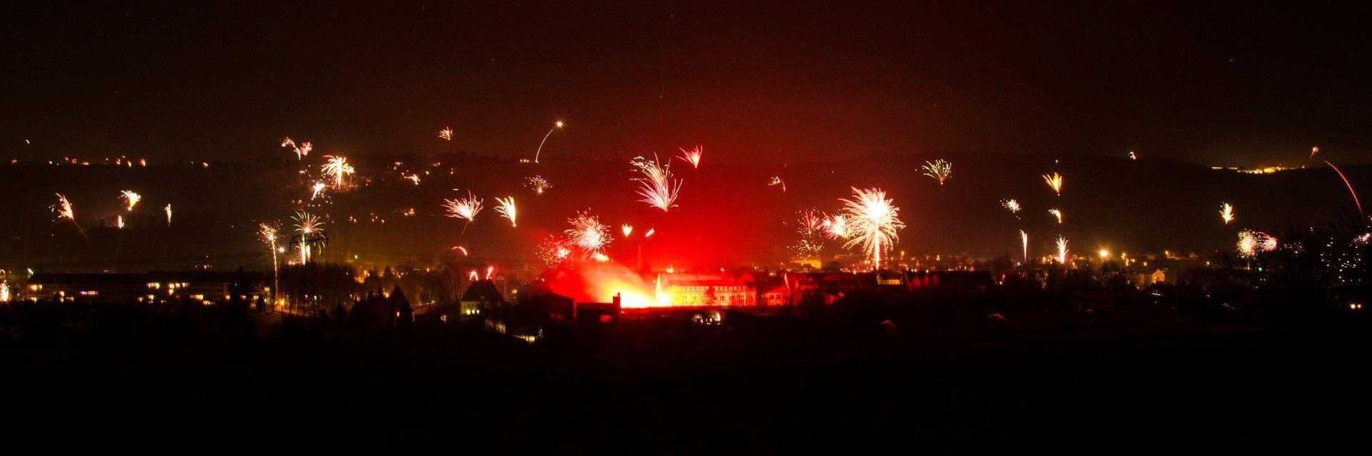 Feuerwerk über Pockau.
