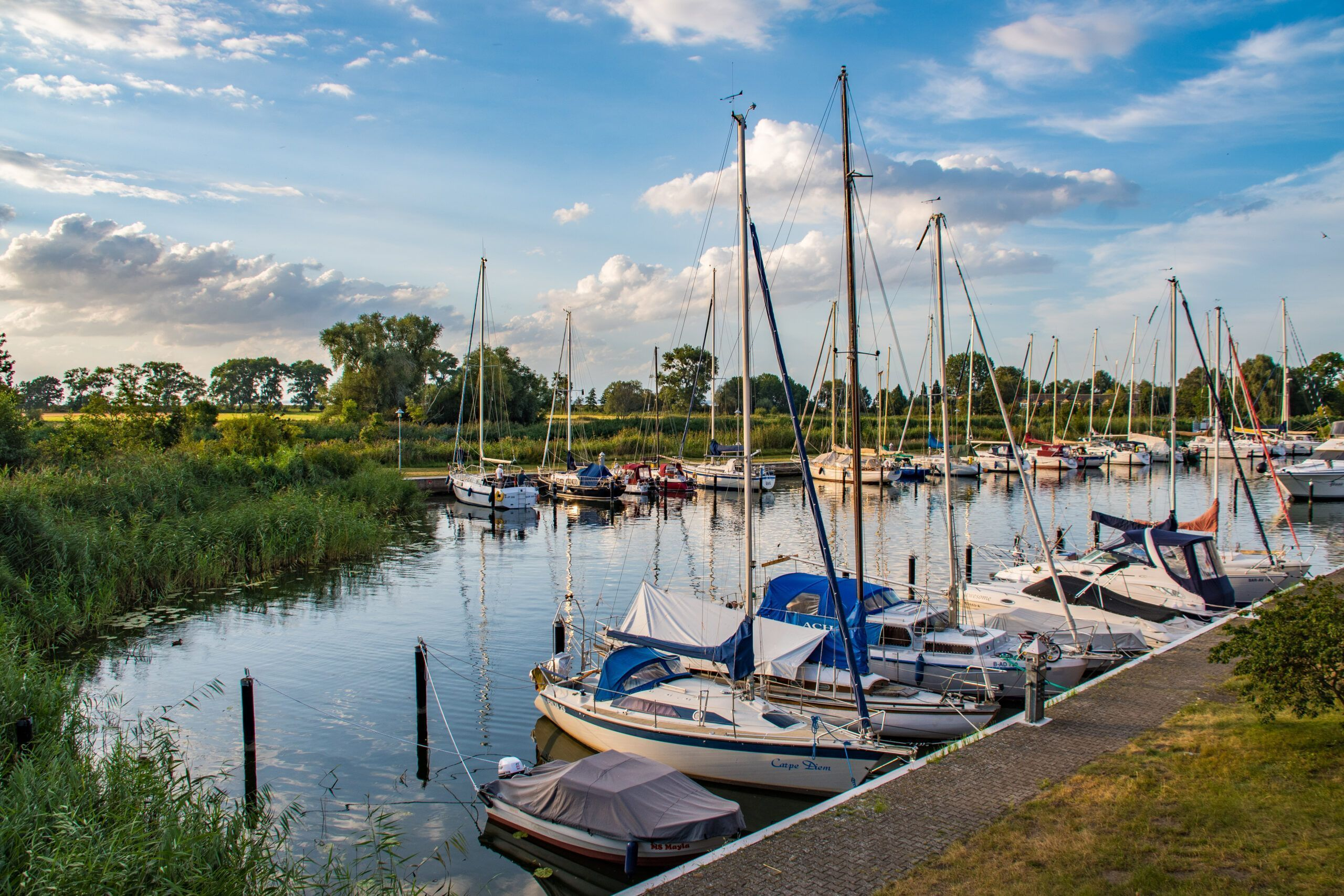 Blick auf den Yachthafen von Ueckermünde